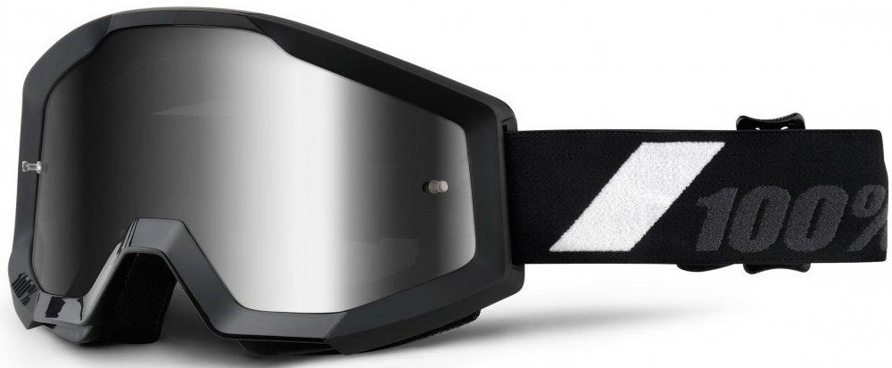 Дитячі мото окуляри 100% STRATA JR Goggle Goliath - Mirror Silver Lens, Mirror Lens