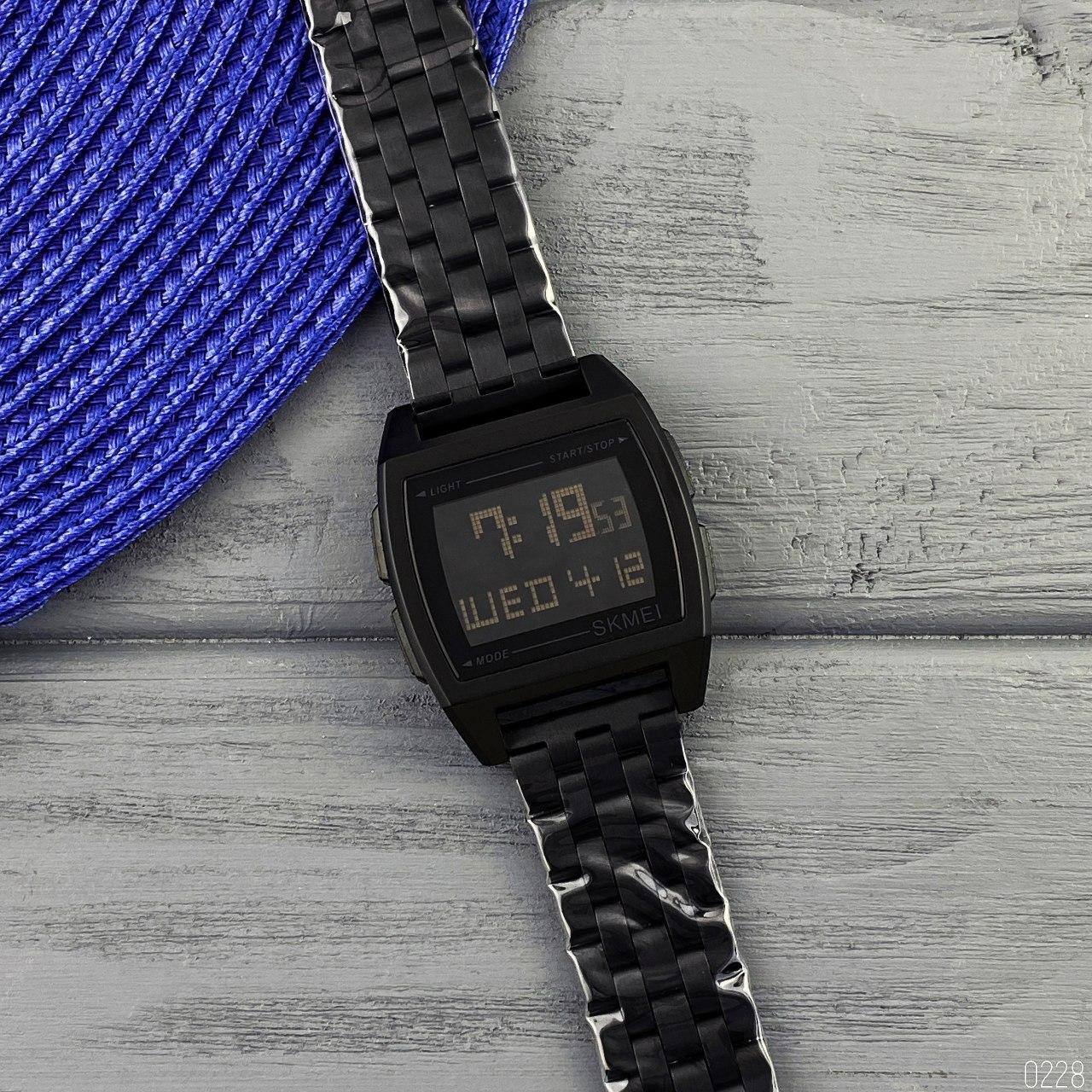Часы мужские электронные Skmei 1368 Black AB-1080-0228