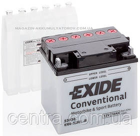 Мото аккумулятор EXIDE E60-N30L-B