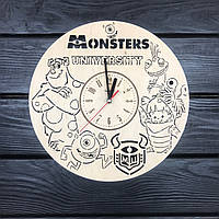 Оригинальные детские часы из дерева «Университет монстров», фото 1