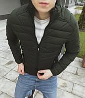 Мужская куртка стеганая хаки RM, фото 1