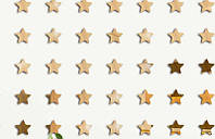 """Набор """"Звездная ночь"""" золотых зеркальных наклеек  пятиконечных звезд - 25 шт, фото 1"""