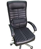 Подушка накидка для сидения на кресле руководителя ортопедическая. Комплект