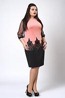 """Платье """"Виталия"""" размеры 48-50,50-52,52-54.54-56 абрикос"""