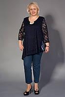 Модная батальная нарядная женская туника