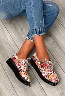 Яркие весенние кроссовки с цветочным принтом
