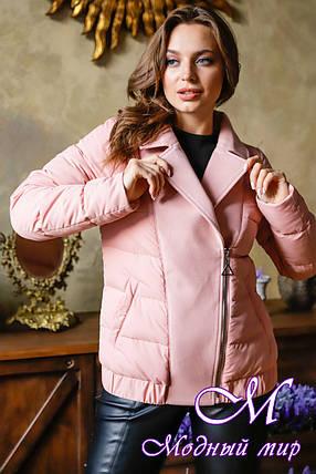 Женская куртка большого размера весна осень (р. 42-52) арт. Карэн пудра, фото 2