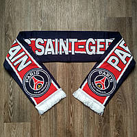 Футбольный шарф ПСЖ черно-красный, фото 1