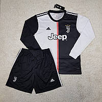 Детская футбольная форма с длинным рукавом Ювентус/Juventus ( Италия, Серия А ), домашняя, сезон 2019-2020
