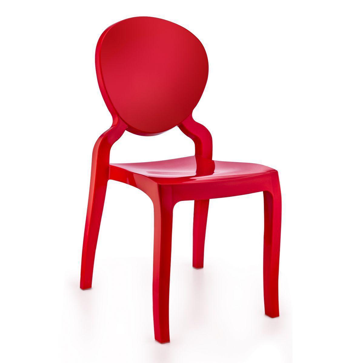 Кресло Irak Plastik Mona Lisa прозрачно-красный