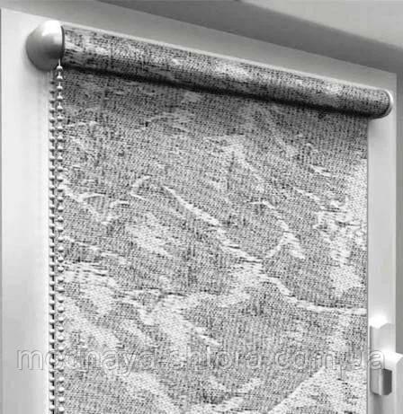 "Тканевые рулонные шторы ""Oasis"" венеция (дымчатый), РАЗМЕР 47,5х170 см"