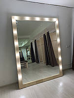 Зеркало для макияжа из сосны Гримерное зеркало из дерева с подсветкой