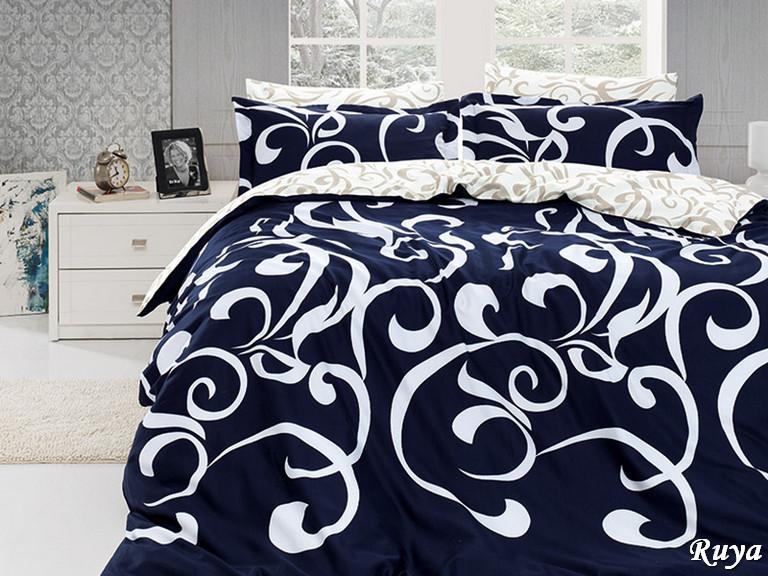 Комплект постельного белья First Choice Сатин Люкс Ruya Lacivert
