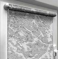 "Тканевые рулонные шторы ""Oasis"" венеция (дымчатый), РАЗМЕР 120х170 см, фото 1"