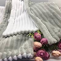 Детский плюшевый плед Солодкий Сон 120х160 см. Бело-серый, фото 1