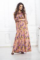 Платье длинное свободного кроя шелк, фото 1