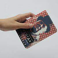"""Обкладинка на паспорт """"Черчель"""", Обложка для паспорта экокожа """"Никогда не сдавайся"""" 925, фото 2"""