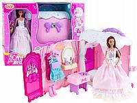 Кукла аналог Барби Anlily со спальней гардеробной в эксклюзивной сумочке 99047