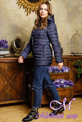 Жіноча весняна куртка великого розміру (р. 42-54) арт. Кіара темно-синій, фото 2