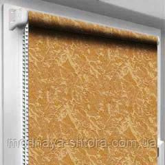 """Тканевые рулонные шторы """"Oasis"""" венеция (шафрановый) РАЗМЕР 57,5х170 см"""