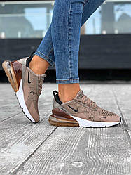 Женские кроссовки Nike  Air Max 270 (капучино)