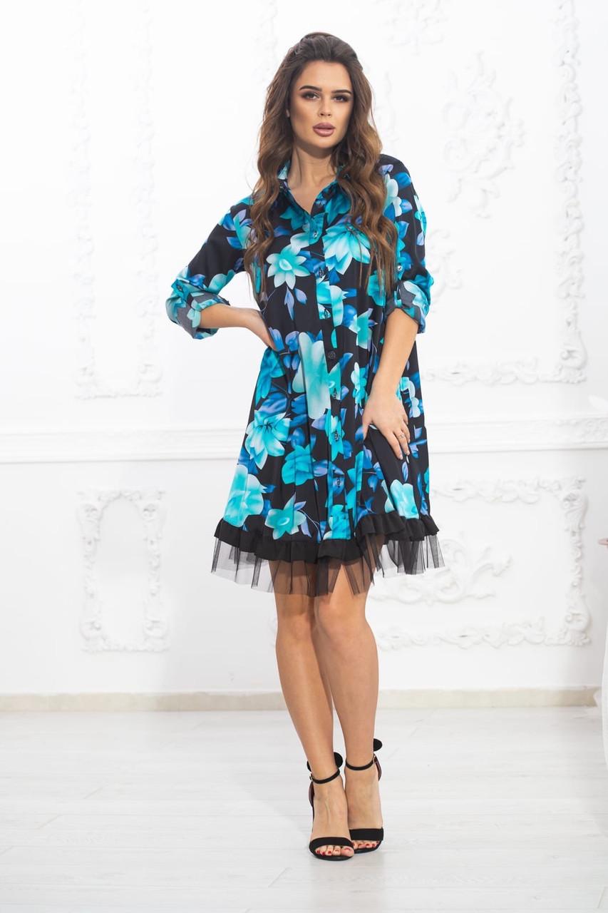 Платье рубашка полубатал софт