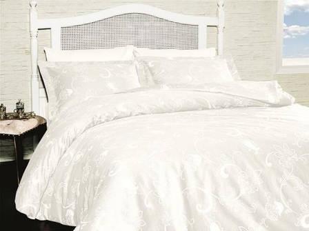 Комплект постельного белья First Choice Satin Carmina Beyaz, фото 2