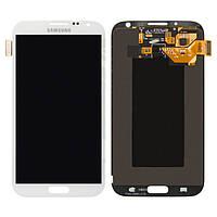 Дисплейный модуль (дисплей + сенсор) для Samsung Galaxy Note 2 N7100, белый, оригинал