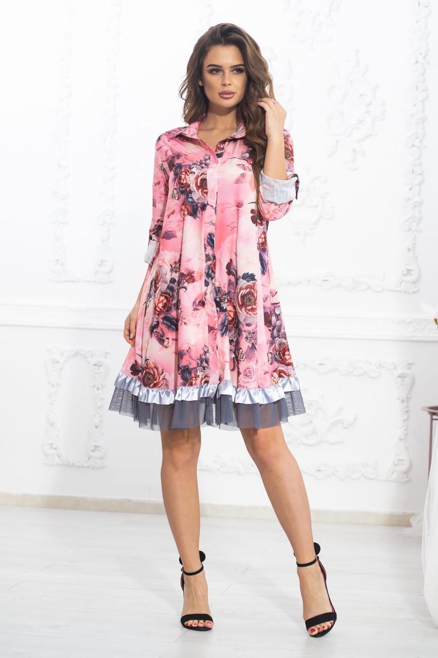 Платье комбинированное современное молодёжное