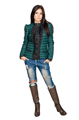 Женская куртка Рюша (зеленый)