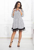 Платье с длинным рукавом горох, фото 1