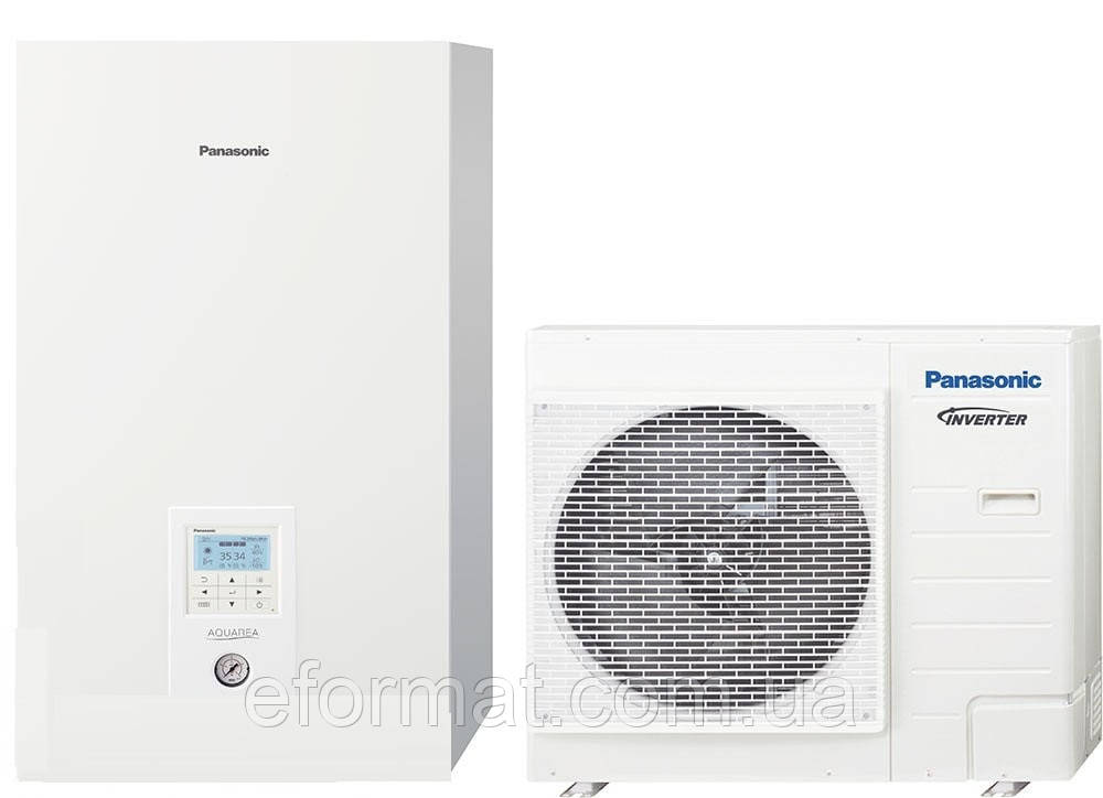 Тепловой насос Panasonic Aquarea T-Cap Bi-Bloc KIT-WXC09H3E8, 9кВт, 3фазы