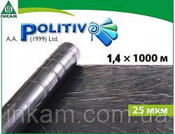 Плівка мульчують POLITIV E1103 чорна 1,4 х 1000 м
