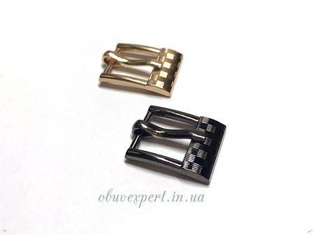 Пряжка  12 мм Чорний нікель, фото 2