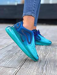 Женские кроссовки Nike Air Max 720 Deep Royal Blue (голубые)