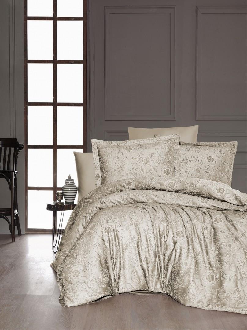 Комплект постельного белья First Choice Сатин Advina s.Kahve