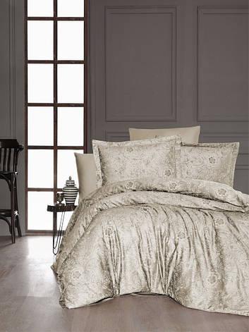 Комплект постельного белья First Choice Сатин Advina s.Kahve, фото 2