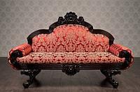 """Трехместный резной диван из дерева """"Барселона"""", под заказ 7 дней, от фабрики, в классическом стиле."""