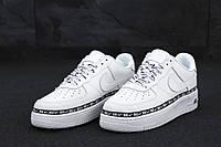 """Кроссовки мужские кожаные Nike Air Force """"Белые"""" найк аир форс р. 43-45"""