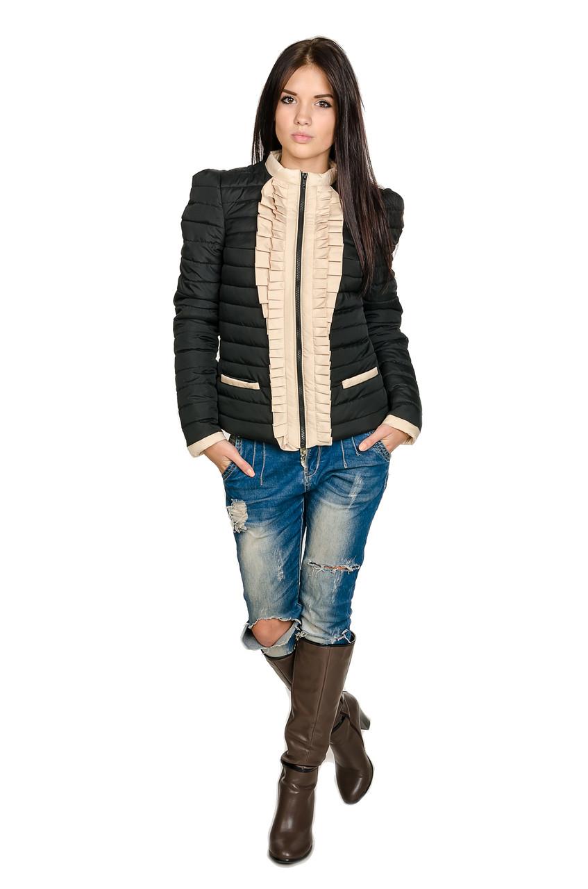 Женская куртка Рюша (черный)