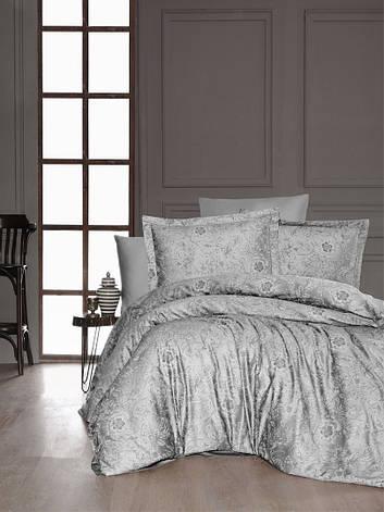 Комплект постельного белья First Choice Сатин Advina Gri 200х220, фото 2