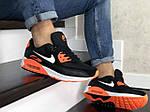 Чоловічі кросівки Nike Air Max 90 (чорно-білі з помаранчевим) 9054, фото 5