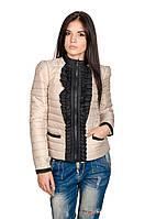 Модная женская куртка Рюша (бежевый), фото 1