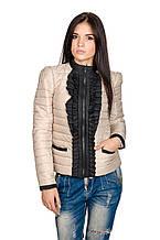 Модная женская куртка Рюша (бежевый)