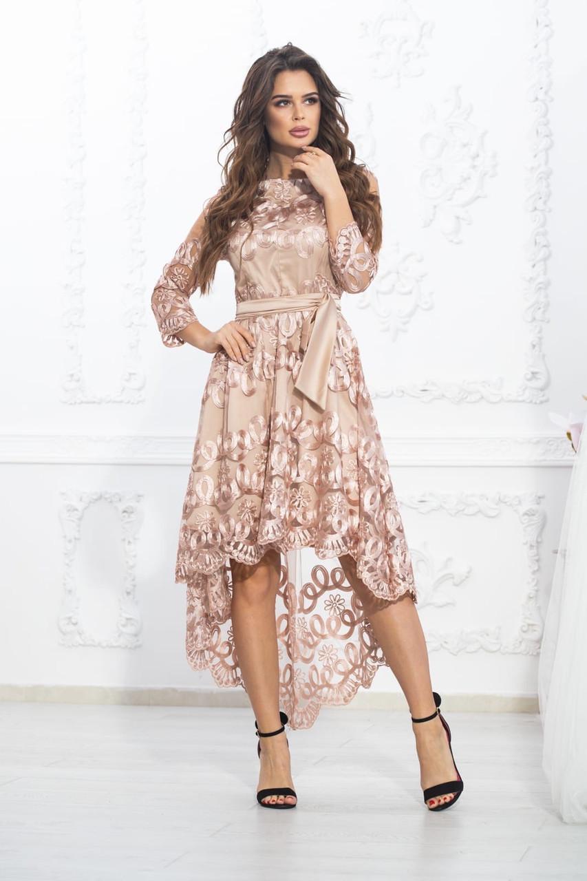 Платье шикарное праздничное батал гипюр