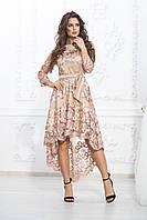 Платье шикарное праздничное батал гипюр, фото 1