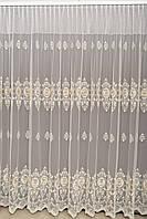 Турецкая дорогая тюль на окна с вышивкой, (обработка сторон + 40 грн), фото 1