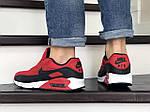 Мужские кроссовки Nike Air Max 90 (красно-черные) 9056, фото 2