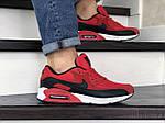 Мужские кроссовки Nike Air Max 90 (красно-черные) 9056, фото 3