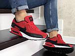 Мужские кроссовки Nike Air Max 90 (красно-черные) 9056, фото 5